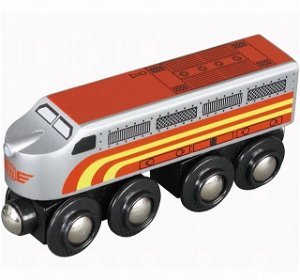 Vláčkodráha vláčky - Lokomotiva Santa Fe (Maxim)