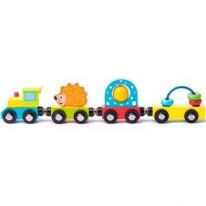 Vláčkodráha vláčky - Vlak s ježkem a hračkami (Woody)