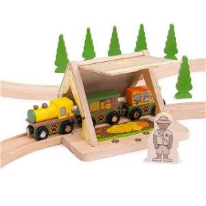 Vláčkodráha tunely - Safari stan tunelový (Bigjigs)