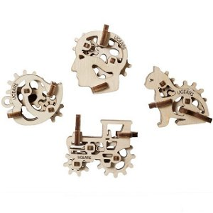 3D mechanický model - U-Fidget, Tribiks 4ks (Ugears)