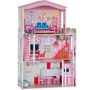 Domeček pro panenky - Velký s nábytkem pro Barbie (Woody)
