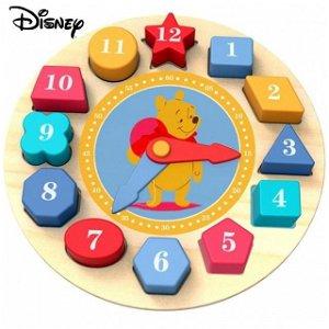 Puzzle hodiny - Vkládačka dřevěná Medvídek Pú (Disney Derrson)