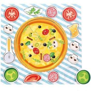Puzzle na desce - Pizza, 19ks (Bino)