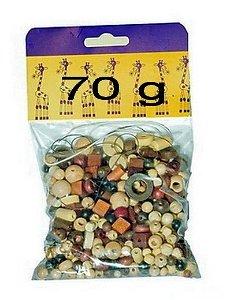 Navlékací perle - Mix perlí hnědo-přírodní 70g (Detoa)