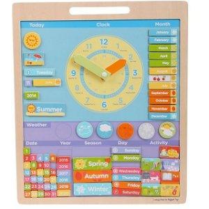 Hodiny - Magnetické s kalendářem, Angličtina (Bigjigs)