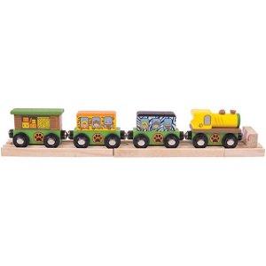 Vláčkodráha vláčky - Vlak Safari + 3 koleje (Bigjigs)