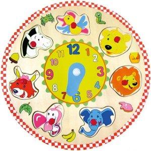 Puzzle hodiny - Zvířátka (Bino)