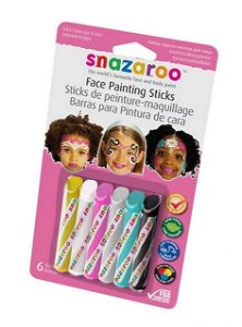Snazaroo - Tužky na obličej, Dívčí, 6 barev