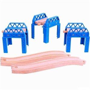 Vláčkodráha mosty - Set mostní konstrukce (Bigjigs)