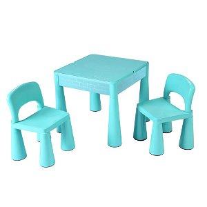 Dětská sada stoleček a dvě židličky NEW BABY mátová, Zelená
