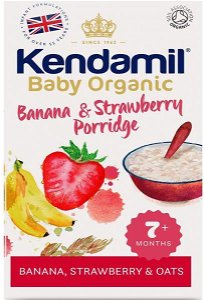 KENDAMIL Bio/organická jemná dětská banánovo jahodová kaše (150g)