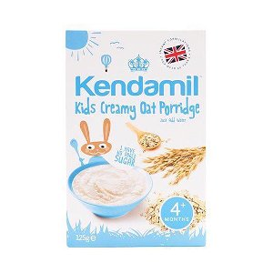 KENDAMIL Jemná krémová ovesné kaše – obilný příkrm pro kojence a malé děti s přídavkem mléka, 4m+ (125g)
