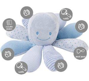 Hračka chobotnička edukační 8 aktivit Lapidou blue