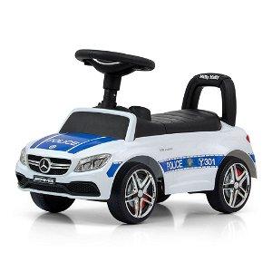 Odrážedlo Mercedes Benz AMG C63 Coupe Milly Mally Police, Bílá