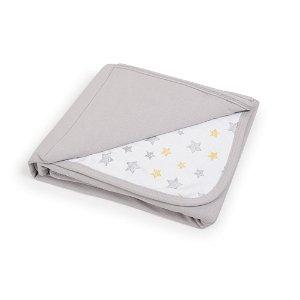 CEBA Deka dětská 90x100 Light grey + Yellow Stars