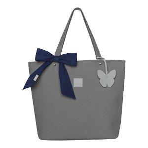 Beztroska Matylda taška s mašlí charcoal