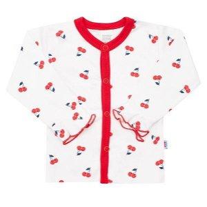 Kojenecký bavlněný kabátek New Baby Cherry Červená 56 (0-3m)