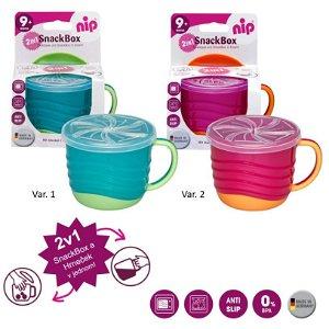 NIP Snackbox 2in1, 1ks, mix barev