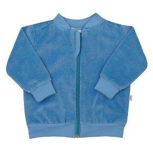 Semišková mikinka New Baby Baby modrá Modrá 74 (6-9m)