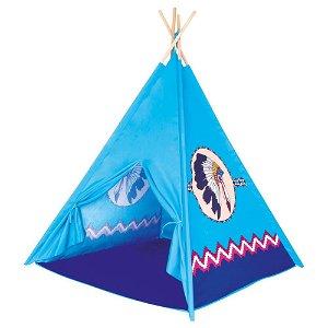 Bino Indiánské TeePee, dětský stan modrý