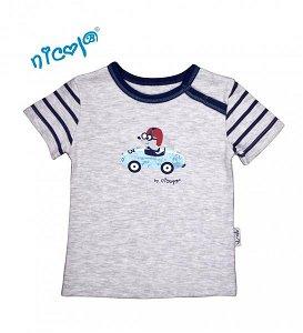 Bavlněné tričko Nicol, Car - krátký rukáv, 56 (1-2m)