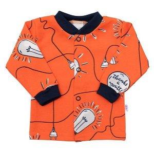 Kojenecký bavlněný kabátek New Baby Happy Bulbs Oranžová 68 (4-6m)