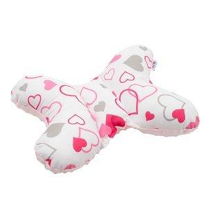 Stabilizační polštářek New Baby růžová srdíčka