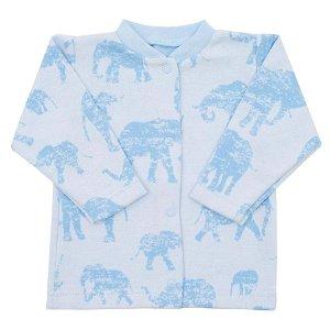 Kojenecký kabátek Baby Service Sloni modrý Modrá 68 (4-6m)