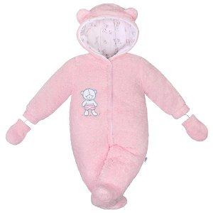 Zimní kombinézka New Baby Nice Bear růžová Růžová 56 (0-3m)