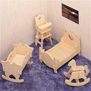 Woodcraft construction kit Woodcraft Dřevěné 3D puzzle dětský pokoj