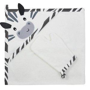 Dětská osuška s žínkou Koala Happy Zebra white
