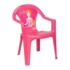 STAR PLUS Dětský zahradní nábytek - Plastová židle růžová Giuly