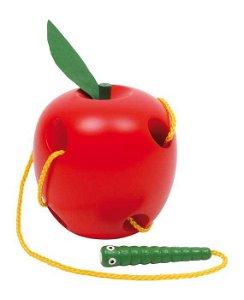 Small foot by Legler Small Foot Dřevěná hra na provlékání jablko na provlékání
