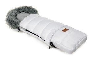 Zimní fusak HappyBee Combi s kožíškem White/Grey