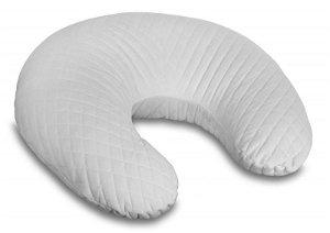 Kojící polštář/podkova - Velvet lux Miminu, prošívaný - šedý