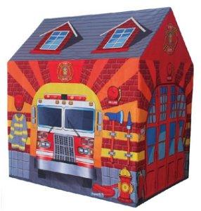 iPLAY Dětský stan ECOTOYS Požární stanice