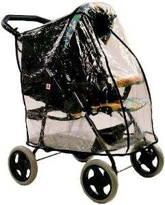 Emitex pláštěnka TRACKING UNIVERSAL na kočárek Peg Perego, Chipolino, Valco Snap, Baby Jogger, černá