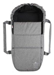 Emitex taška pro kojence OXFORD, středně šedá/černá uvnitř