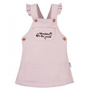 EEVI Dívčí šaty s laclem Adventure - pudrové, vel. 92, 92 (18-24m)