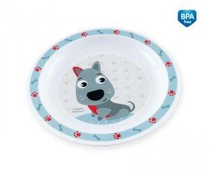 Canpol babies Plastový talířek Pejsek - modrý