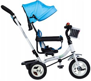 Dětská tříkolka Ecotoys s otočným sedátkem modrá
