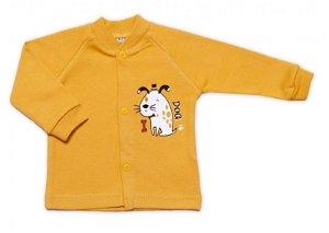 Baby Nellys Bavlněná košilka Dogs - hořčicová, vel. 62, 62 (2-3m)