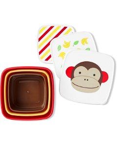 SKIP HOP Zoo Misky svačinové 3 kusy Opička 12 m+