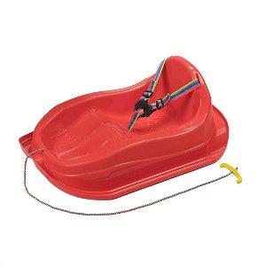 Plastové sáňky s opěradlem BAYO MINI červené