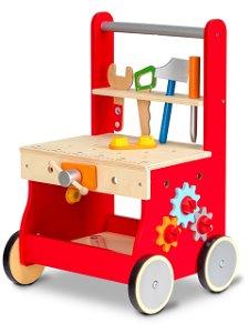 Dřevěné chodítko Ecotoys s montážním stolem