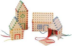 Small foot by Legler Small Foot Dřevěná hra na provlékání stavební prvky