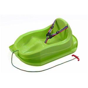 Plastové sáňky s opěradlem BAYO MINI zelené