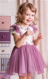 G-baby Letní šaty Květy s týlem - lila, vel. 74, 74 (6-9m)