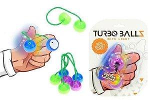 Teddies Fidget Turbo ballz plast na baterie se světlem asst 4 barvy na kartě 12x17cm