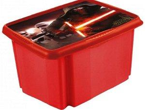 Keeeper Box na hračky Star Wars  45 l - červený